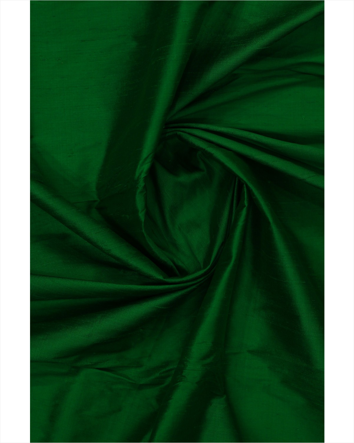 green color pure raw silk fabric